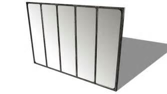 miroir indus en m 233 tal l 180 cm cargo verri 200 re maisons du