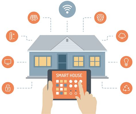 smart house smart house flat illustration concept the real estate