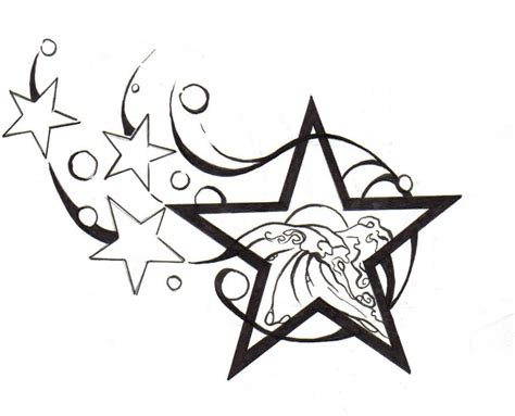 star outline tattoo images designs