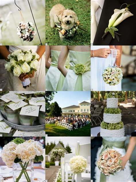 Backyard Wedding The Knot Pretty Garden Weddings White Soft Green And Blush