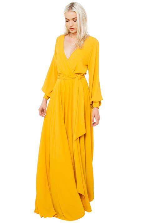 Mustard Dress by Mustard Yellow Maxi Dress Ejn Dress