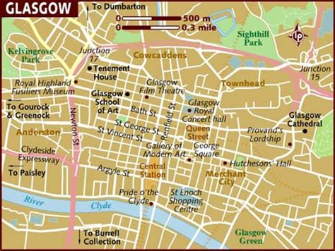 printable map glasgow city centre map of glasgow
