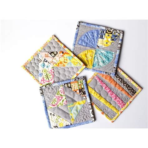 Patchwork Mug Rugs - 419 best patchwork mug rugs coasters pot holders