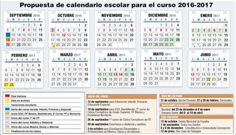 Calendar 2018 Gsa El Inicio Curso Escolar 2016 17 Ser 225 El M 225 S Tard 237 O De