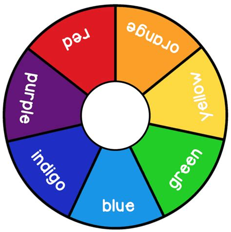 color wheel numbers printable rainbow days of the week and color wheels
