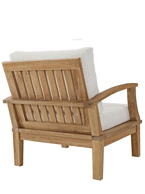 Outdoor Armchairs by Teak Outdoor Armchair Modern Furniture Brickell Collection