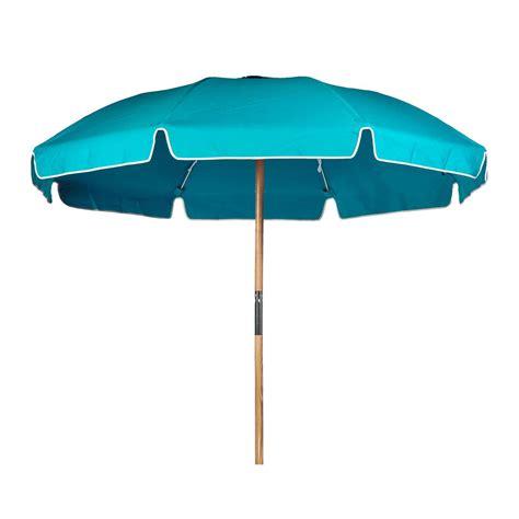 7.5 ft. Steel Commercial Grade Beach Umbrella, Ash Wood