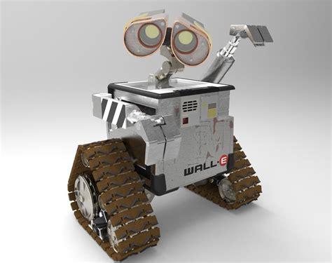 wall e robot robot wall e disney free 3d model dwg cgtrader