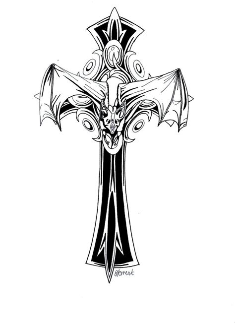 tattoo gothic cross designs gothic cross by bevf2003 on deviantart