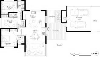 plan moderne de plain pied 3 chambres ooreka
