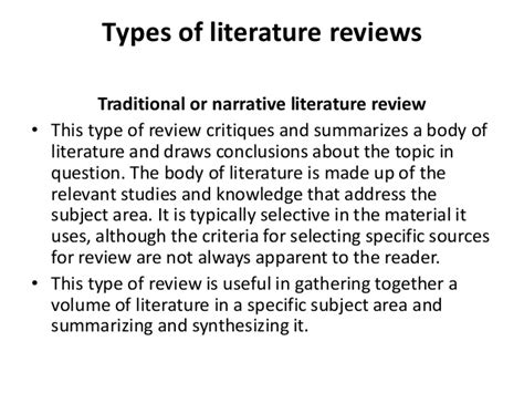 4 Types Of Literature Reviews by The Literature Review