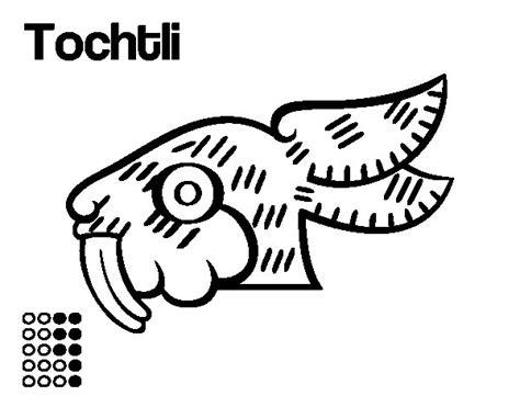 imagenes aztecas para descargar dibujo de los d 237 as aztecas el conejo tochtli para