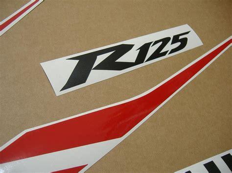 Kit Stickers Yamaha Yzf R125 by Yamaha Yzf R125 2012 2011 Decals Set Kit Black