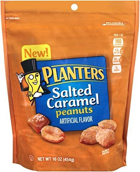 Planters Chocolate Covered Peanuts by Planters Salted Caramel Covered Peanuts 16oz Bag