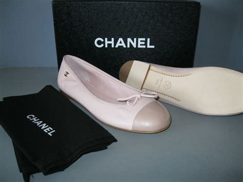 authentic chanel 13c new 37 5 light pink leather patent
