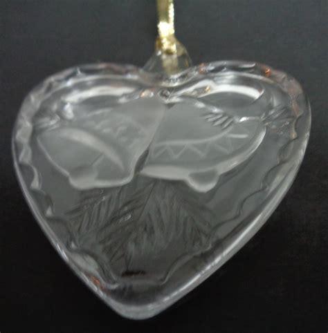 mikasa crystal heart ornament holiday song nib 3 quot ornaments