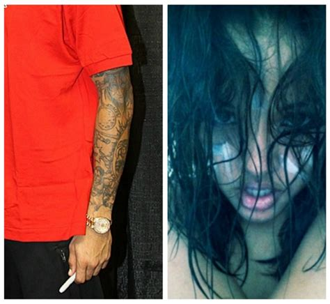 chris brown face tattoo did chris brown remove karrueche for rihanna