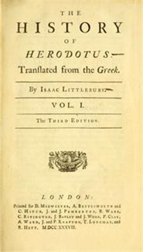 the history of herodotus bilingual edition and edition books the history of herodotus 1737 edition open library