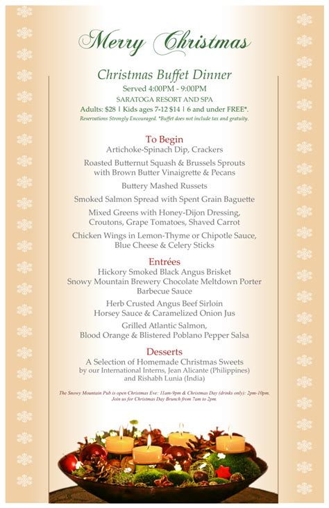 join us for a christmas day dinner and new years eve buffet