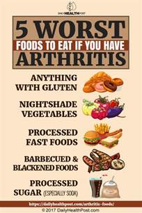5 worst foods to eat if you arthritis
