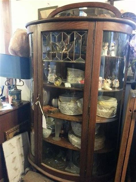 curved glass china cabinet for sale antiques