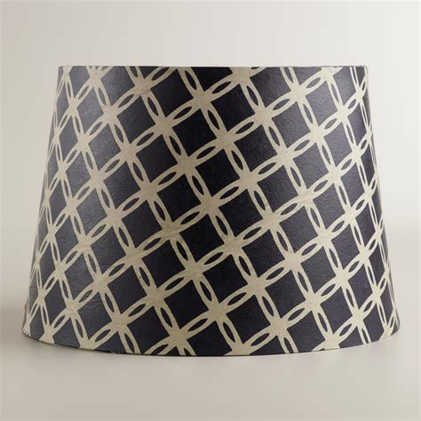 world market l shades navy tile paper accent l shade world market