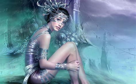 wallpaper girl painting fantasy girl pc desktop hd paintings wallpaper 1440x900