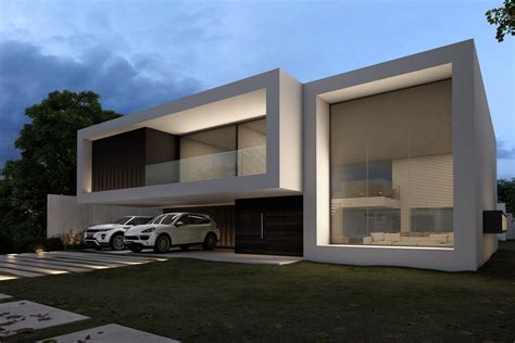 imagenes casas minimalistas modernas casa fachada branca minimalista moderna decor salteado 12