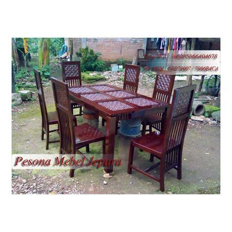 Kursi Makan Bunga Seribu meja makan minimalis seribu bunga pesona mebel jepara