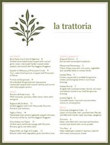 italian dinner menu italian menus
