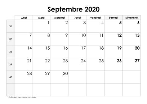calendrier septembre  calendriersu