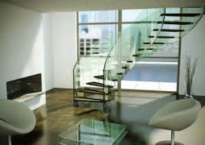 Modern Glass Stairs by Modern Glass Staircase Designs Iroonie Com