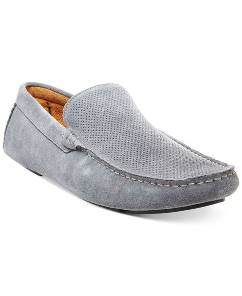 mens grey loafers steve madden stitch loafers in gray for lyst