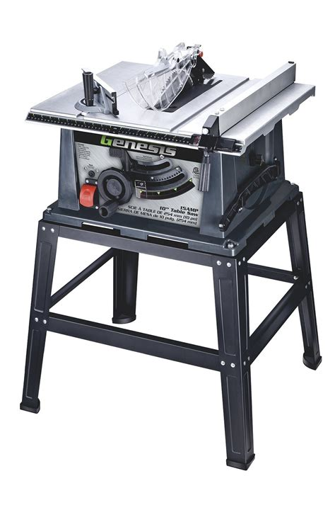 10 inch table saw genesis gts10sb 10 inch 15 table saw with stand ebay