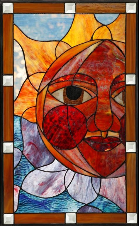Hand Made Stained Glass Cabinet Door Insert by Paradise