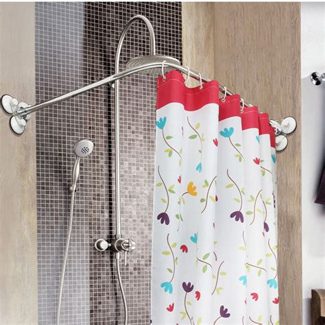 bathroom curtain pole popular curved shower pole buy cheap curved shower pole lots from china curved shower