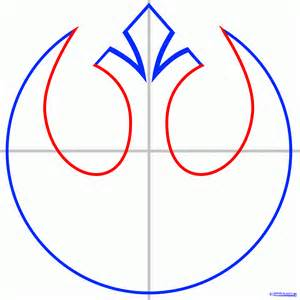 Wars Rebel Symbol Outline by How To Draw The Rebel Alliance Starbird From Wars Starbird Symbol Step By Step Wars