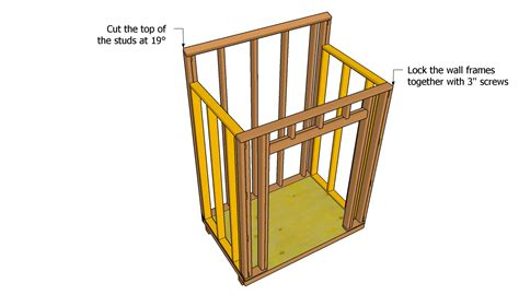 lean  wood shed plans   build diy woodworking