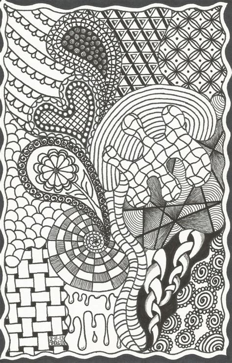 doodle etsy items similar to zentangle inspired doodle on etsy