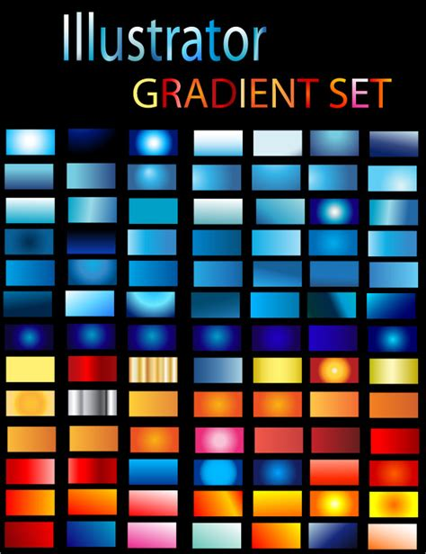 illustrator pattern with gradient illustrator gradient set by zakaria1854 graphicriver