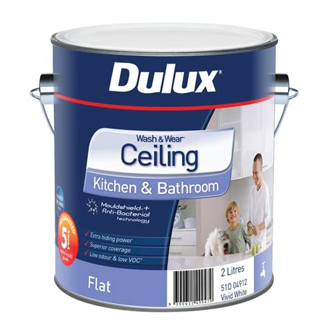 dulux bathroom paint price dulux wash wear kitchen bathroom 2l white ceiling