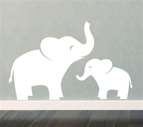 mom baby elephant wall decal set jungle safari children