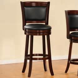 How To Make Cheap Bar Stools Verona Cherry Padded Back Swivel 29 Inches Pub Chair
