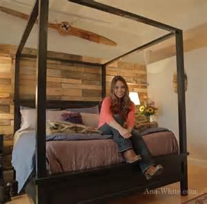 Ana white saving alaska farmhouse canopy bed diy projects
