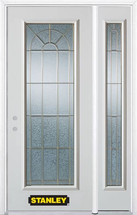Stanley Exterior Door Stanley Doors 50 In X 82 In Lite Pre Finished White Steel Entry Door With Sidelite And