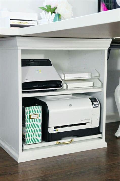 Ikea Hacks Desk I Want Printer On Shelf Rather Than In Drawer Or Cupboard