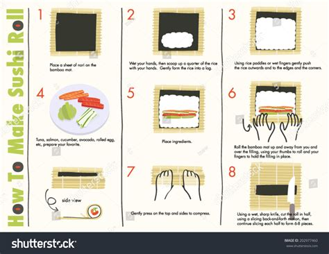 Kitchen Japanese by How Make Sushi Rolls Making Sushi Stock Vector 202977460