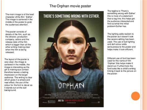 orphan film poster analysis existing movie poster analysis