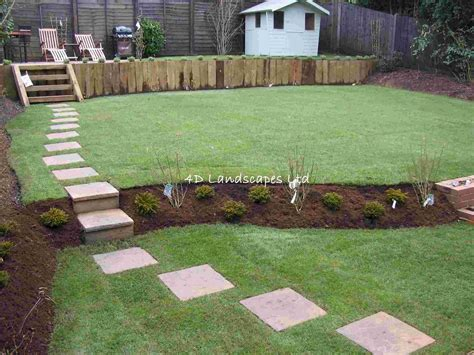 How To Level Your Backyard Landscape by Triyae Multi Level Lawn Various Design Inspiration For Backyard