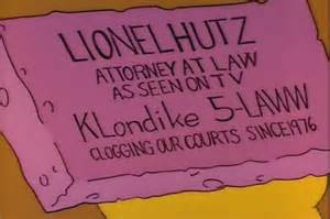 lionel hutz business card business cards from the simpsons